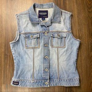 Guess Jeans Denim Vest size XL